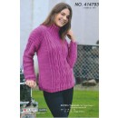 414793 Sweater m/snoninger