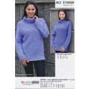 515656 Sweater m/drejet rib