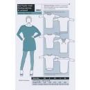 Onion 2061 -Kort kjole med Dolmanærmer, til strikstof