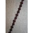 Bånd med marguerit mini, mørkebrun