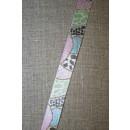Printet bånd med glimmer lysegrå-rosa-lyseblå