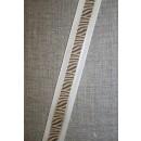 Bånd med zebra-print creme-brun-guld