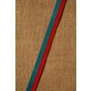 2-farvet bånd rød/turkis