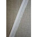 Foldeelastik m/lurex, hvid/sølv
