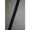 Foldeelastik med buet kant/prik, mørkeblå