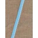 Foldeelastik med buet kant og prik, lyseblå