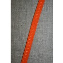 Foldeelastik med buet kant/prik, orange