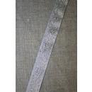 Lurex/lame-bånd sølv, 15 mm.