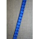 Satin-bånd med læg, koboltblå
