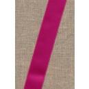 Satinbånd mørk pink 25 mm