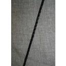 Imiteret flettet lædersnørre 3 mm. sort