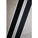 20 mm. velcro med lim - selvklæbende, sort