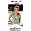 Gepard mønster Cardigan m/hulmønster i Duna
