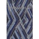 Aloe strømpegarn print klar blå/grå/koks