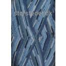 Aloe strømpegarn print lyseblå/blå/petrol