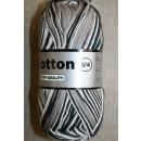 Flerfarvet Cotton 8/4 sort grå sand