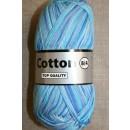 Flerfarvet Cotton 8/4 blå turkis lyseblå