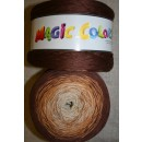 Magic Colors bomuld/acryl brun/lysebrun/sand