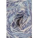 Organic 350 Wool/Cotton Gots certificeret meleret blå