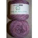 Organic 350 Wool/Cotton Gots certificeret meleret rosa