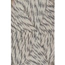 Ragg strømpegarn meleret grå og off-white