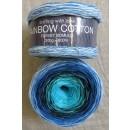 Rainbow Cotton 100% bomuld i aqua turkis klar blå lyseblå