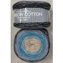 Rainbow Cotton 100% bomuld i sort grå petrol beige