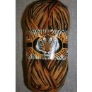 Strømpegarn Safari carry/gylden-brun/grå