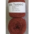 Garn Silk Tweed fra Hjertegarn i rust