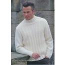 53037 Herre-sweater m/snoninge-mønster på forstyk
