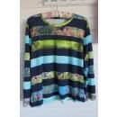 T-shirt syet i viskose jersey med striber