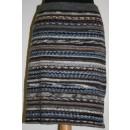 Nederdel i strømpegarns-rester brun/grå