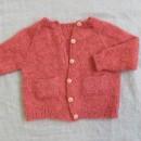 Ellens cardigan strikket i Trunte og Silk kid mohair