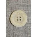 4-huls krakeleret knap off-white/creme, 24 mm.