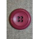 Mørk pink 4-huls knap, 24 mm