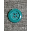 Irgrøn 4-huls knap, 16 mm.