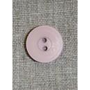 Rosa 2-huls knap, 18 mm.