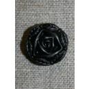 Rose knap sort, 18 mm.