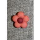2-farvet blomsterknap koral/bordeaux
