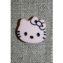 Knap Hello Kitty, babylyserød