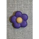 2-farvet blomsterknap mørkelilla/lysebrun