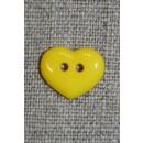 Hjerteknap 15 mm. gul