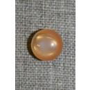 Rund knap, 11 mm. lys orange