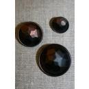 Faset-slebne knapper i metal look, gl.kobber