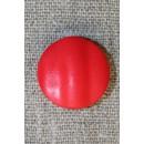 Rød rund knap, 20 mm.