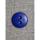 Koboltblå 2-huls knap, 13 mm.