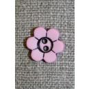 Blomster knap, lyserød