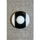 Knap m/øje sort/hvid 18 mm