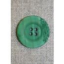 4-huls knap krakeleret græsgrøn, 23 mm.