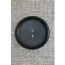 2-huls knap koksgrå/sort, 18 mm.